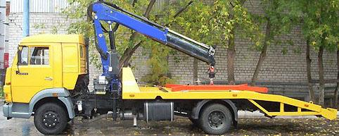 КАМАЗ-4308 с краном манипулятором