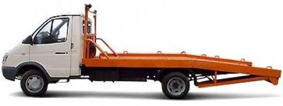 Эвакуатор ГАЗ-3302 с ломаной платформой