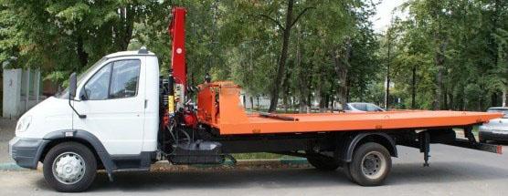 Эвакуатор ГАЗ-33106 с краном манипулятором