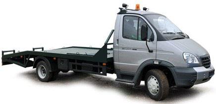 Эвакуатор ГАЗ-33106 с ломаной платформой