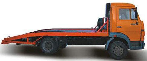 Эвакуатор КАМАЗ-4308 с ломаной платформой