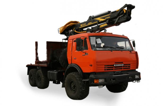 Лесовозный тягачна шасси автомобиля Камаз 43118-RB