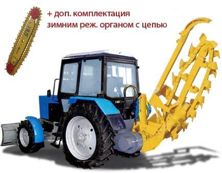 Баровая грунторезная машина БГМ-2 / БГМ-2У