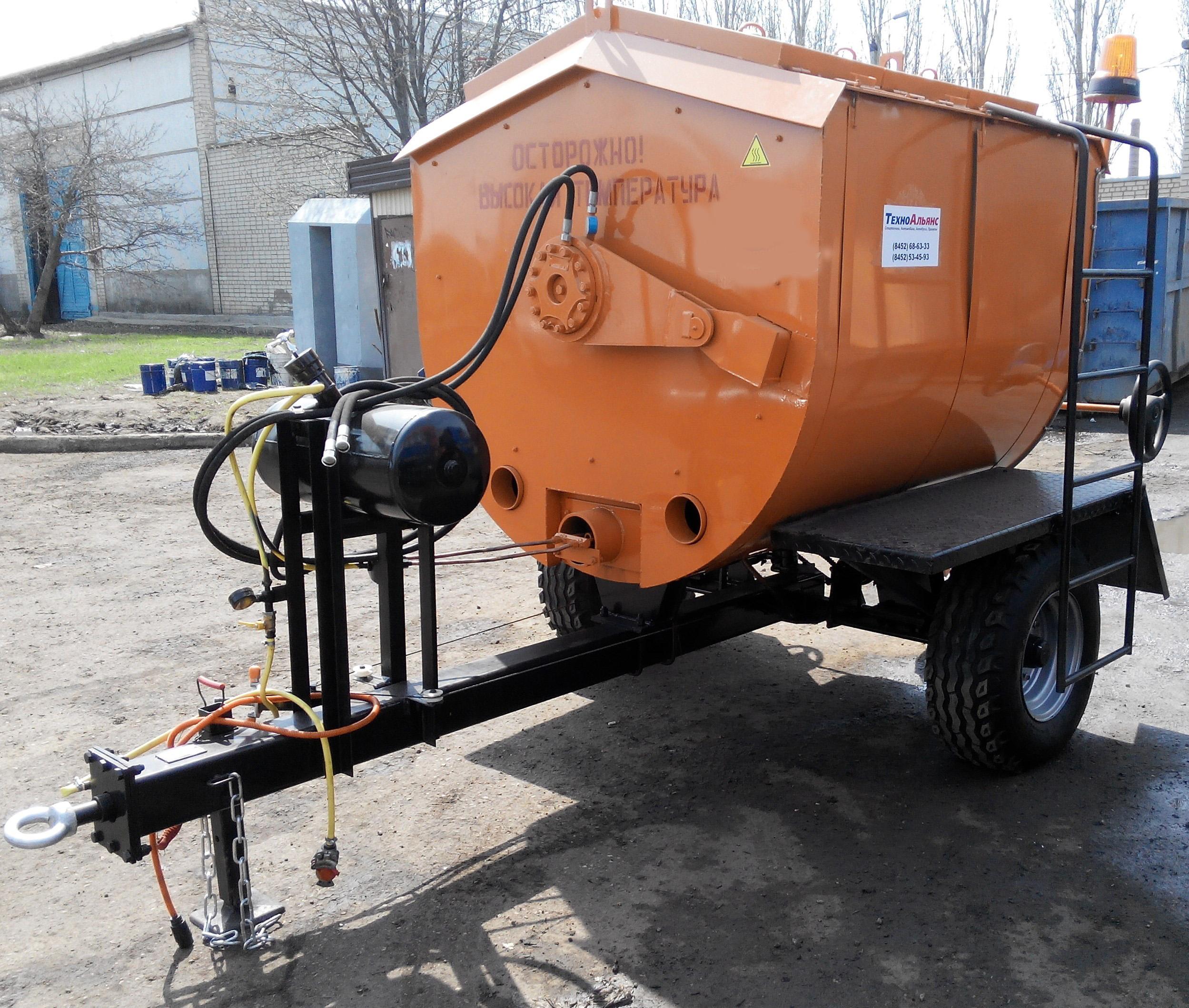 Прицеп специальный тракторный РЦА-3,5 (рециклер)
