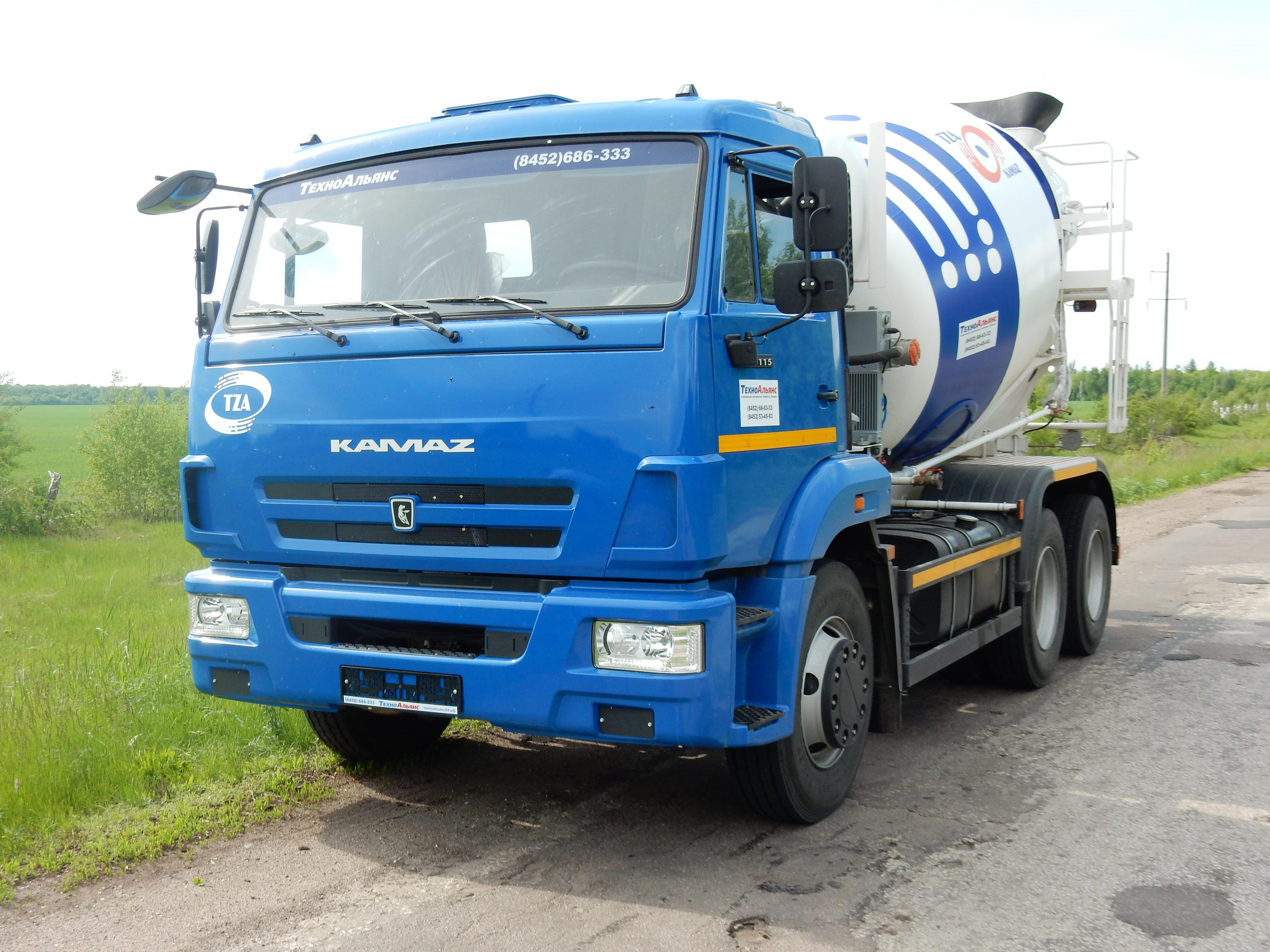 Автобетоносмеситель 58147А на шасси КАМАЗ-65115 ( 7 м3).